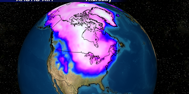 Many times during winter months,the polar vortex will expand, sending cold air southward with the jet stream into the U.S.