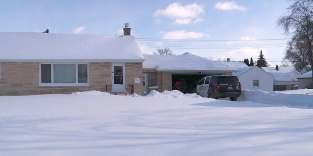 A 55-year-old man was found frozen in a garage in Wisconsin on Tuesday after he collapsed and died after shoveling snow.