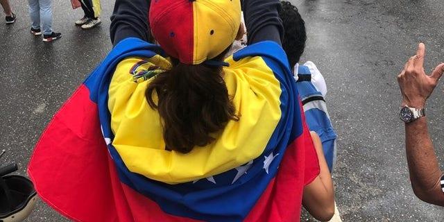 Protests against the Nicolas Maduro regime in Caracas, Venezuela, on Wednesday.