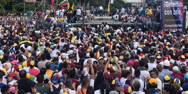 Protests against the Nicolas Maduro regime in Caracas on Wednesday.