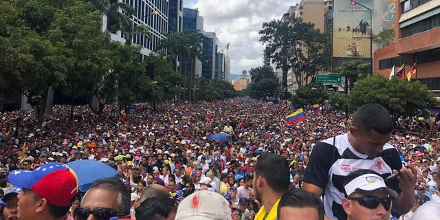 Protests against the Nicolas Maduro regime in Caracas, Venezuela on Wednesday, Jan 23 2019