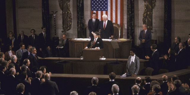 President Ronald Reagan is credited with inviting the first guest to the State of the Union.
