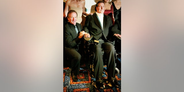 Christopher Reeve with pal Robin Williams.