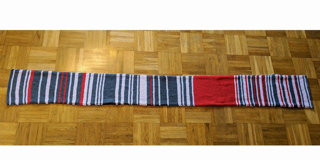 """Claudia Weber's """"delay scarf"""" was bought by Germany's biggest rail company for a serious sum."""