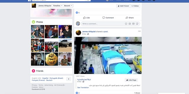 A second purported ISIS Facebook account showing a video of the suicide bombing in Syria.