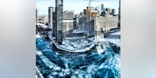 A photographer shares a photo of sea smoke rising from the Chicago River on Jan. 31, 2019.