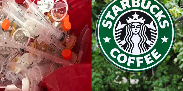 The coffee giant has installed needle disposal boxes in bathrooms in select U.S. markets, with more on the way for stores that require them.