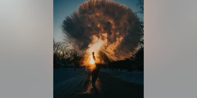 """Maggie Russo, a Chicago-based photographer, shares a photo from the """"Boiling Water Challenge"""" on Jan. 30, 2019."""