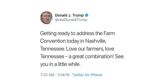 Trump Addresses 100th American Farm Bureau Federation Convention