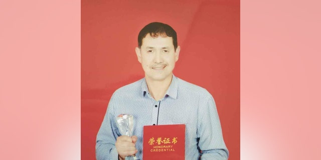 """Alfred Erkin's father, believed to be held in a Uighur """"concentration camp,"""" or what the government refers to as a vocational and educational center"""