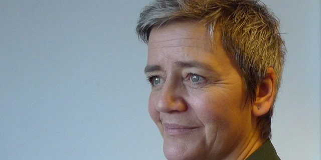 The European Union's competition commissioner, Margrethe Vestager, poses during an interview Monday Jan. 14, 2019, in Copenhagen, Denmark.