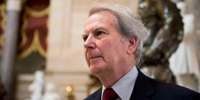 Rep. Walter Jones, R-N.C., pictured in Statuary Hall on Thursday, May 4, 2017. (Photo By Bill Clark/CQ Roll Call)