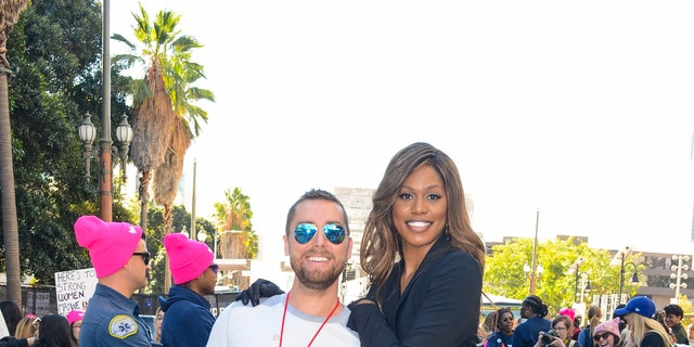 Lance Bass and Laverne Cox