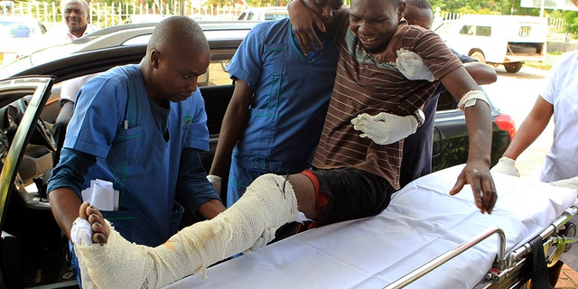 An injured man received assistance at a hospital Thursday after an alleged assault by a group of uniformed soldiers in Harare, Zimbabwe. Zimbabwe on Friday faced an internet shutdown after a violent crackdown on people protesting a dramatic fuel price increase.