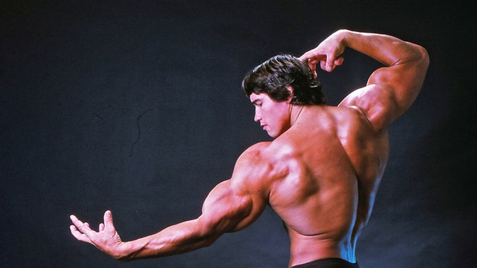 Arnold Schwarzenegger's son recreates his father's famous bodybuilding pose