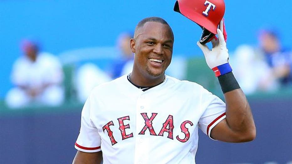 Adrian Beltre going into Rangers Hall of Fame with PA man Morgan