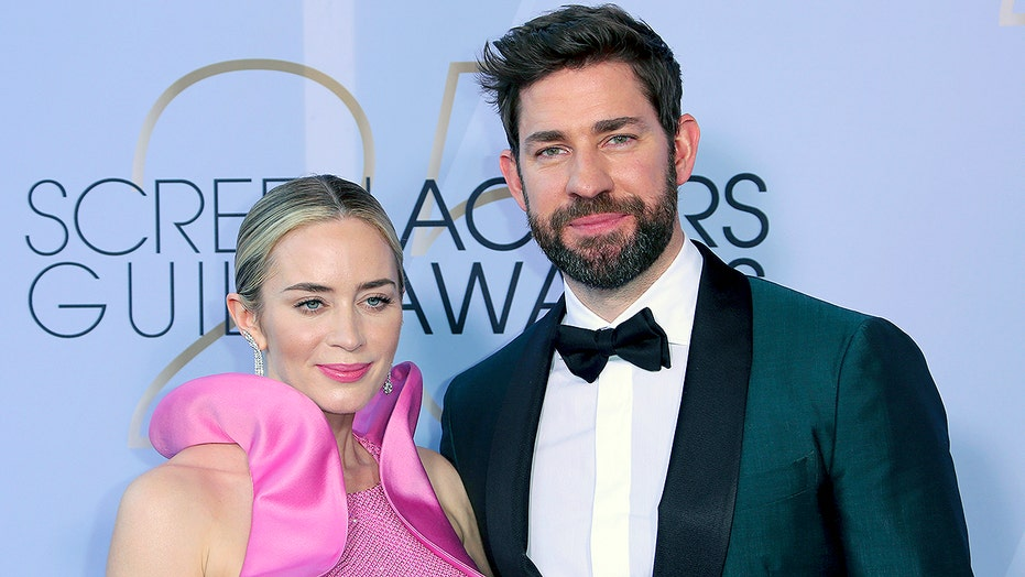 John Krasinski reacts to Amy Schumer's joke that marriage to Emily Blunt is 'for publicity'