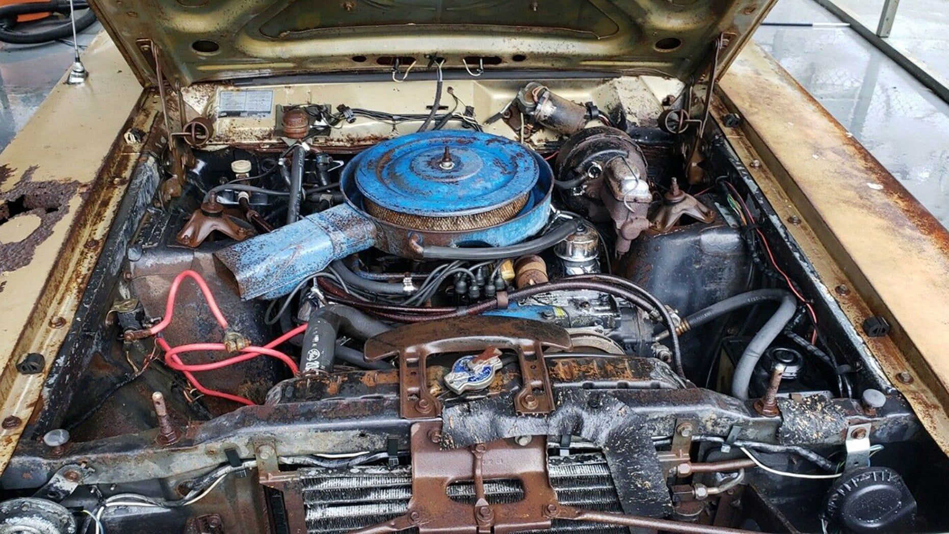 1969 Ford Torino GT Cobra Jet engine
