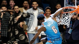 Oklahoma City's Diallo leaps over Shaq to win dunk contest