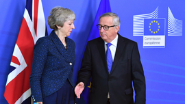The Latest: May, Juncker to meet again on Brexit Wednesday