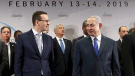 Israeli leader hosts east European PMs after summit scrapped