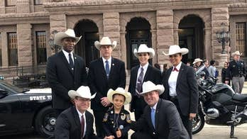 Girl granted wish to be police chief made honorary Texas Ranger amid cancer battle