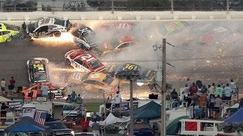 Denny Hamlin wins Daytona 500 after string of dramatic wrecks