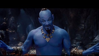 Will Smith revealed as blue Genie in 'Aladdin' during Grammys commercial break