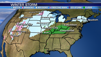 Rain and snow system moves east across US
