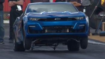 Chevy's electric Camaro can do wheelies