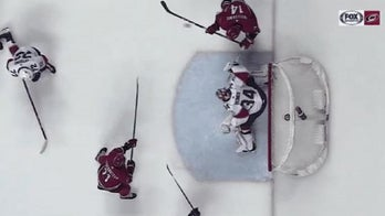Scary moment after Carolina Hurricanes' player scores goal with face