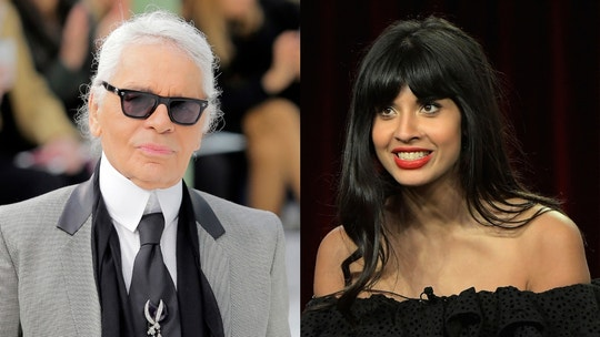Jameela Jamil calls Karl Lagerfeld a 'fat-phobic misogynist' amid celebrity tributes following his death