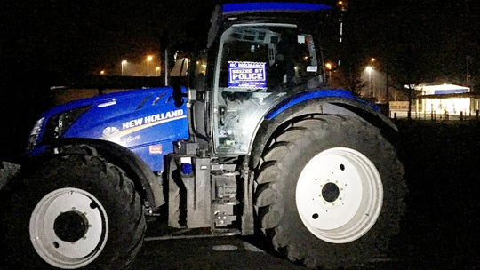 Street racing farm tractor impounded by police