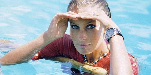 Bo Derek says she loves swimming to stay in shape.