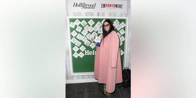 Demi Moore is pretty in pink at The Hollywood Reporter's 2019 Sundance Studio event sponsored by Heineken on Jan. 28, 2019, in Park City, Utah.