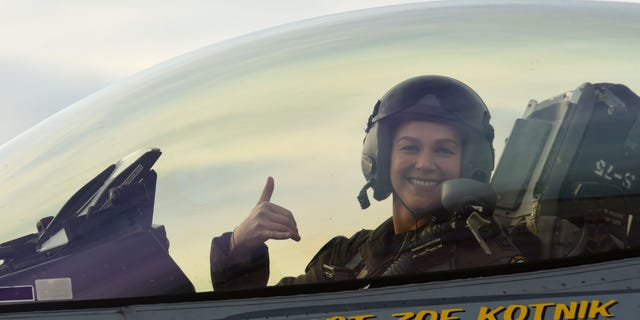 Capt. Zoe Kotnik was relieved of her duties as the head of the Air Combat Command F-16 Viper demonstration team.