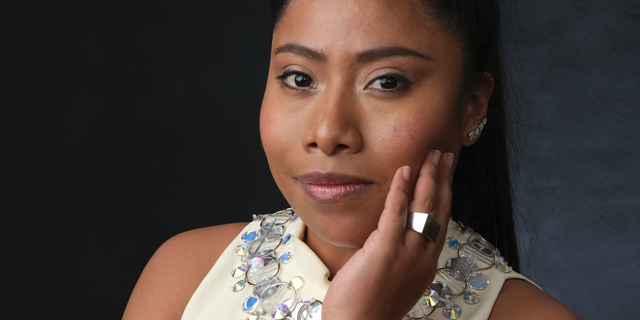 """FILE - In this Feb. 4, 2019 file photo, Yalitza Aparicio, nominated for an Oscar for best actress for her role in """"Roma,"""" poses for a portrait at the 91st Academy Awards Nominees Luncheon in Beverly Hills, Calif. The Oscars will be held on Sunday. (Photo by Chris Pizzello/Invision/AP, File)"""