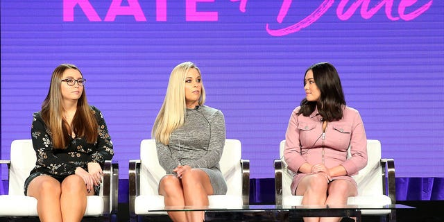 """(L-R) Cara Gosselin, Kate Gosselin, and Mady Gosselin of the television show """"Kate Plus Date"""" speak during the HGTV segment of the 2019 Winter Television Critics Association Press Tour at The Langham Huntington, Pasadena on February 12, 2019 in Pasadena, Calif."""