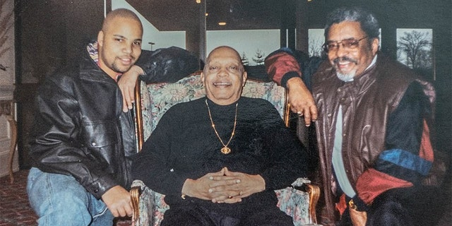 Pictured left to right: Donald's nephew Maurice Jr., Donald and Maurice Sr.