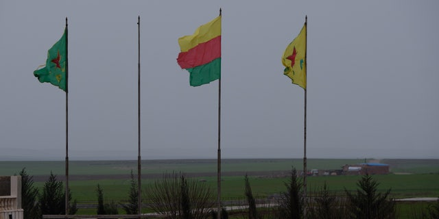 Kurdish flags fly high in their self-declared autonomous region in Syria