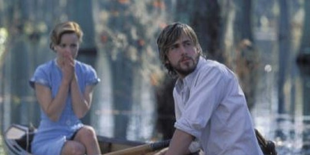Rachel Mc Adams and Ryan Gosling in a scene from'The Notebook