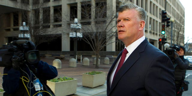 Kevin Downing, attorney for Paul Manafort leaves Federal District Court after a court hearing for Manafort in Washington, Friday, Jan. 25, 2019. Judge Amy Berman Jackson has scheduled a sealed proceeding to determine whether the former Trump campaign chairman intentionally lied to investigators. (AP Photo/Jose Luis Magana)