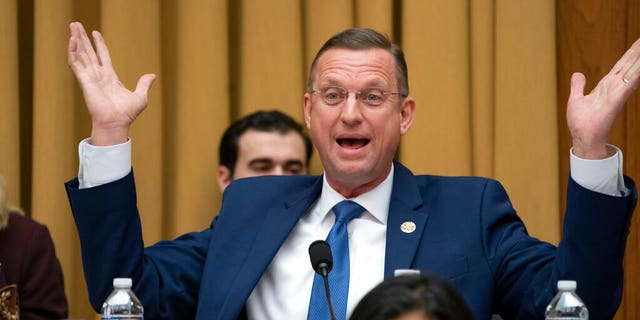 Rep. Doug Collins, R-Georgia, the top Republican on the House Judiciary Committee, objects to Judiciary Committee Chairman Jerrold Nadler, D-N.Y., summoning Acting Attorney General Matthew Whitaker before the Democrat-controlled panel on Capitol Hill, Friday, Feb. 8, 2019 in Washington. (AP Photo/J. Scott Applewhite)