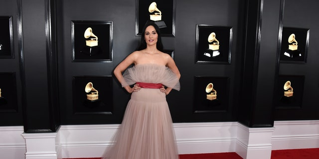 Kacey Musgraves arrives at the 61st annual Grammy Awards at the Staples Center on Sunday, Feb. 10, 2019, in Los Angeles.