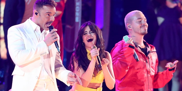 Ricky Martin, on the left, had a chance to play on stage, Camilla Kabello and Jr. Grammy Awards on Sunday, February 10, 2019 in Los Angeles