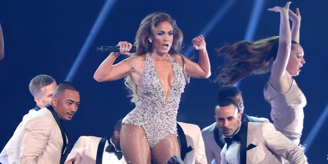 Jennifer Lopez performs a medley during a tribute to Motown's 60th anniversary at the 61st annual Grammy Awards on Sunday, Feb. 10, 2019, in Los Angeles.