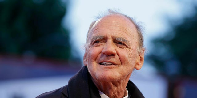 FILE - In this Thursday, Sept. 10, 2015, file photo, Actor Bruno Ganz arrives for the screening of the movie Remember at the 72nd edition of the Venice Film Festival in Venice, Italy. Bruno Ganz has died at 77.