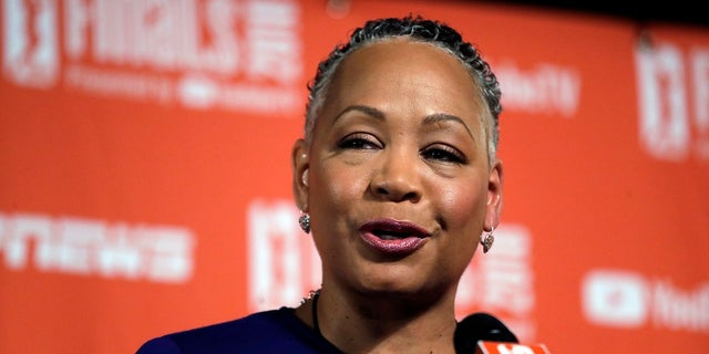 Lisa Borders has resigned as president and CEO of Time's Up, the gender equality initiative formed in 2018, in response to sexual misconduct allegations in Hollywood. (AP Photo/Elaine Thompson, File)