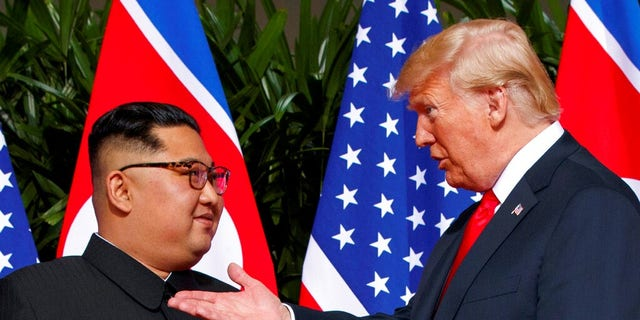 Kim Jong Un and Trump met for the first time in Singapore in June.