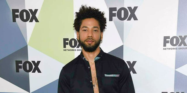 """FILE: """"Empire"""" actor Jussie Smollett attends the Fox Networks Group 2018 programming presentation afterparty in New York. (Associated Press)"""